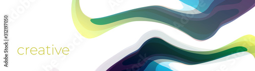 Colorful abstract dynamic fluid shape background