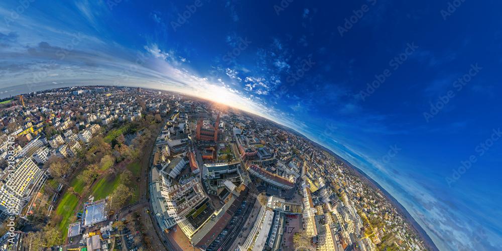 Fototapeta wiesbaden from above