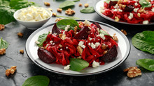 Roast Beetroot Pasta With Spin...
