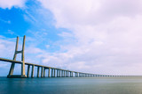 "Cityscape of the ""Parque das Nações"" (Nations Park) and the Vasco de Gama Bridge. Lisbon, Portugal"