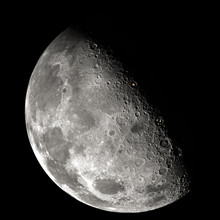 Inhabited Moon, View From Orbi...