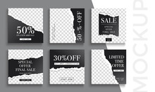 Sale Banner Layout Design. Set...