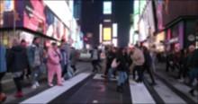 Crowd Of People Walking Crossi...