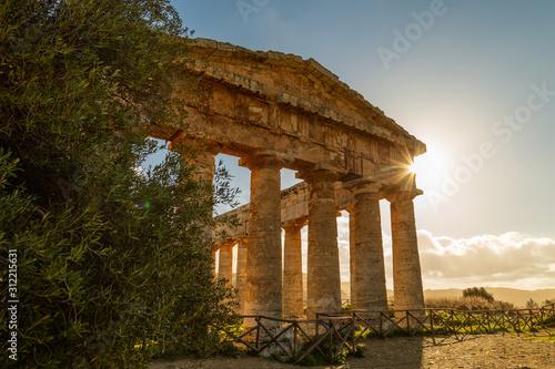 Obraz na plátně Temple of Segesta (Tempio di Segesta), Sicily, Italy