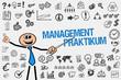Leinwanddruck Bild Management Praktikum