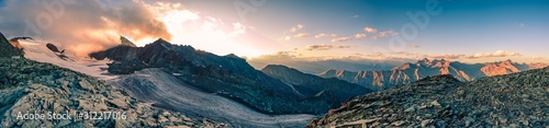 italy alps awesome cloudy sunset view Canvas Print