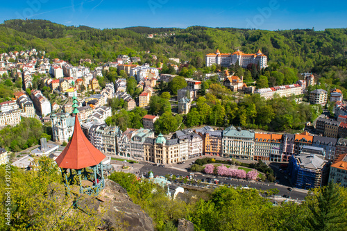 Photo Panoramic view of Karlovy Vary in Czech Republic