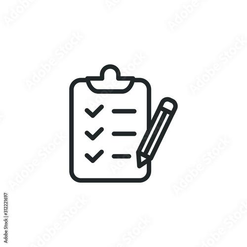 Fotomural  checklist icon template color editable