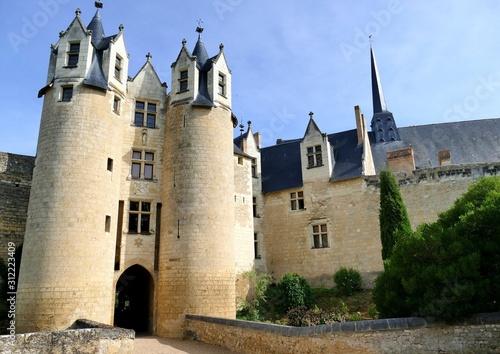 L' entréedu château de Montreuil-Bellay Canvas Print