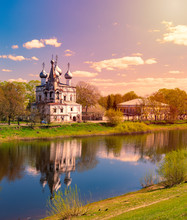 Church In Vologda, Russia. Religion And Travel