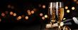 canvas print picture - Champagner zum Fest