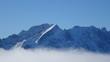 canvas print picture - Ein schöner wintertag in den bayerischen Alpen mit sonne und Wolken