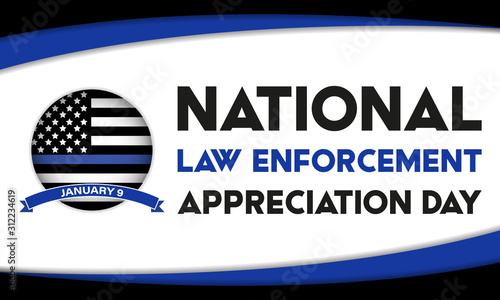 NATIONAL LAW ENFORCEMENT APPRECIATION DAY (L Canvas Print