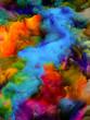canvas print picture - Depth of Virtual Color