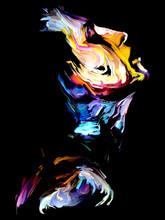 Colorful Female Portrait Painting.
