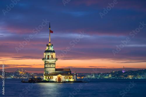 Carta da parati Maiden's Tower in Istanbul, Turkey
