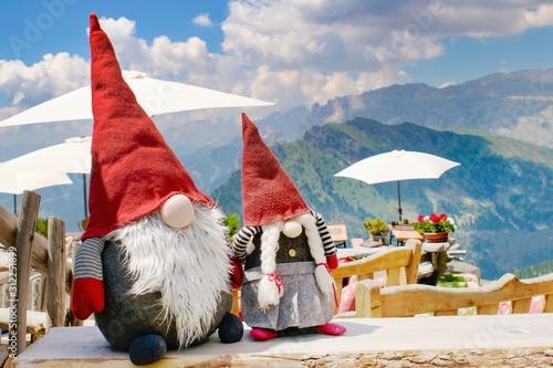 Photo  Funny elfs decoration, Dolomites Italy, European Alps