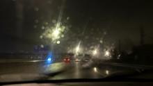Blurred Image, Night Rainy Ill...