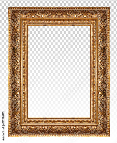 Fotografiet Gold picture frame