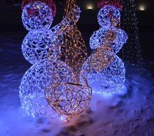 Two Beautiful Decorative Snowm...