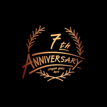 7 Years Design Template. Vector And Illustration. 7 Years Logo.