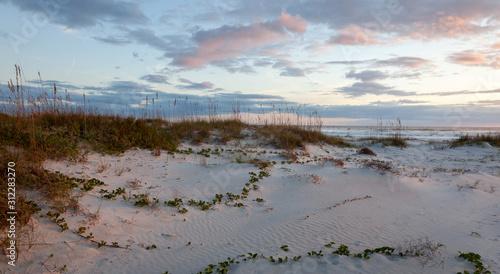 Valokuvatapetti Panoramic photo early in the morning at St Augustine Beach