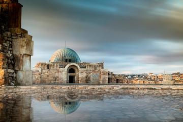 Amman Citadel landmark from Amman city in Jordan
