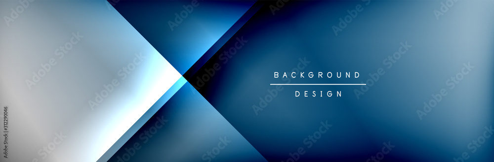 Fototapeta Abstract background - squares and lines composition created with lights and shadows. Technology or business digital template