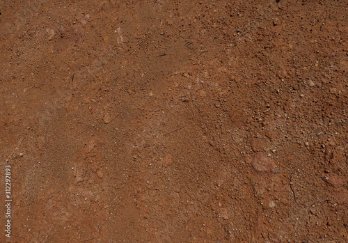 Fotomural Soil on the ground as texture and background