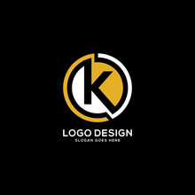 Creative Letter K Logo With Circle Element
