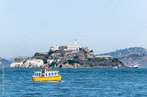 Fényképezés Alcatraz Prison Island in San Francisco Bay, offshore from San Francisco, a smal