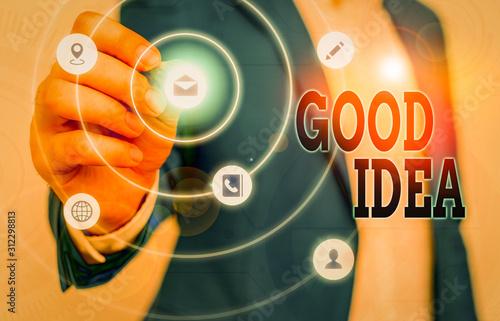 Valokuvatapetti Text sign showing Good Idea