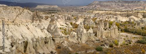 Fotografija Panorama of phallic Fairy Chimneys in Love Valley Goreme National Park Turkey an
