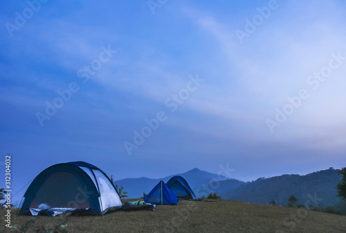 Photographie In the early morning, the Doi Kat camping area, Nanthaburi National Park
