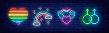 LGBT Symbols Neon Sign Set