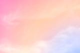 Fototapeta Tęcza - cloud background with a pastel colour