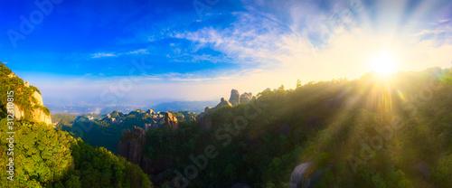 Aerial view of taimu mountain in ningde city, fujian province, China #312310815