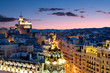 Madrid skyline at night