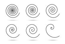 Spiral Logo Design Elements. V...
