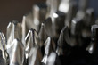 Stainless steel screwdriver set . Macro photography