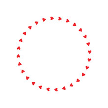 Red Circle With Heart Icon Iso...