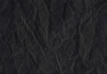 Crumpled Black Paper Poster. Texture. Abstract Background.