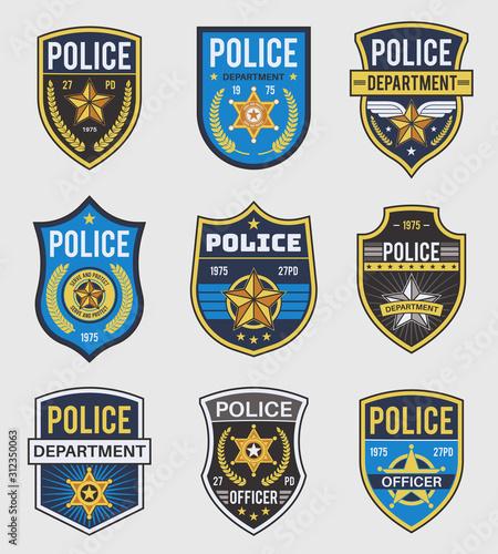 Obraz na plátně Police badges