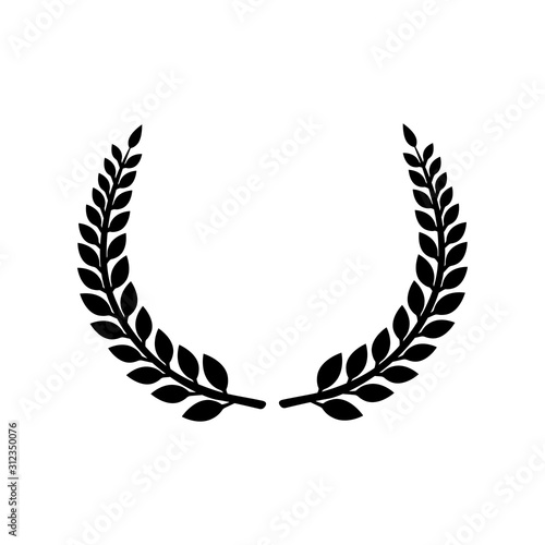 Fototapeta Circular laurel foliate vector icon