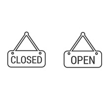 Store Open Closed Sign Icon Ve...
