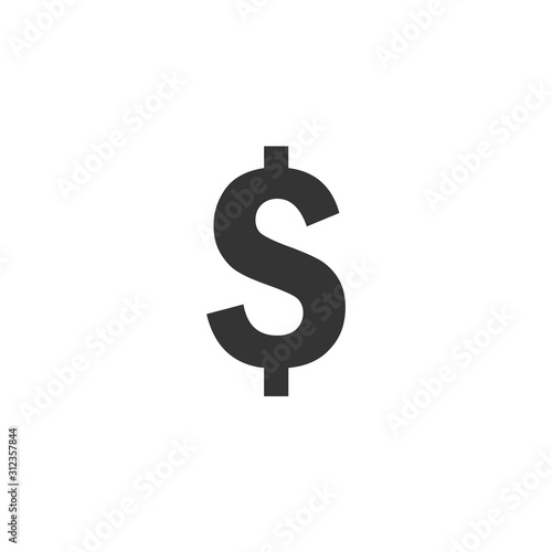 Fototapeta dollar sign currency icon vector illustration for graphic design and websites obraz