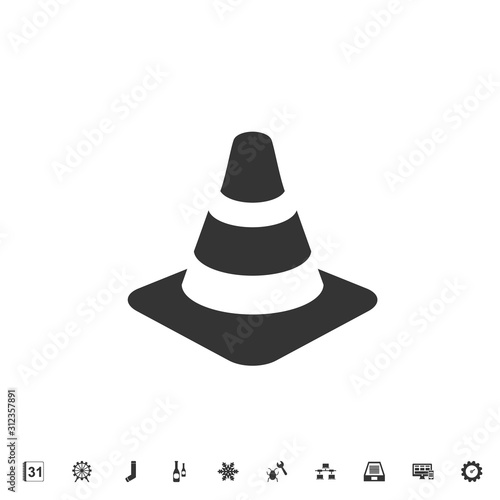 Obraz na plátně  traffic cone icon vector illustration for graphic design and websites