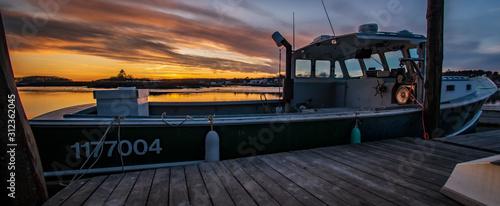 Photo Sunset Boat