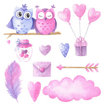 Valentines Day Watercolor Set 2