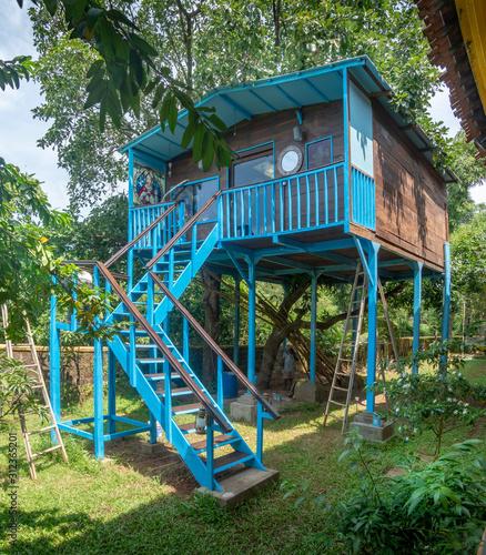 Fényképezés Large Treehouse built in Goa India